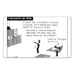 4/27/2009 - On Trial Sticker (Rectangle 10 pk)