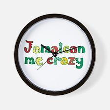 Jamaican me crazy Wall Clock