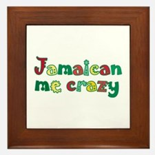 Jamaican me crazy Framed Tile