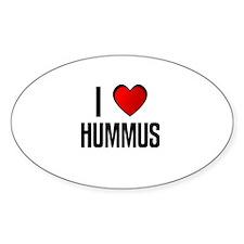 I LOVE HUMMUS Oval Decal