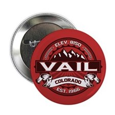 """Vail Red 2.25"""" Button"""