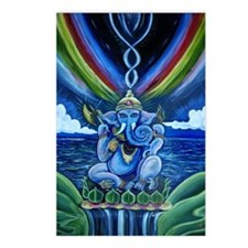 Rainbow Ganesha Postcards (Package of 8)