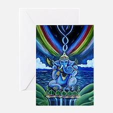Rainbow Ganesha Greeting Card