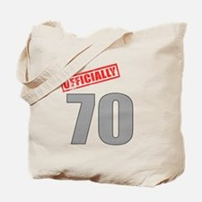 Officially 70 Tote Bag