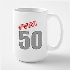 Officially 50 Large Mug