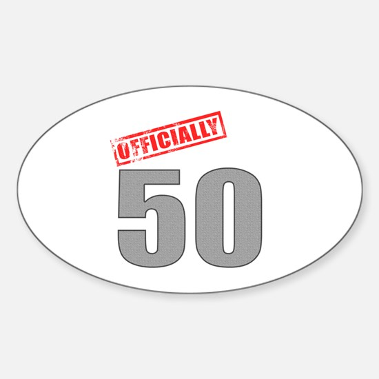 Officially 50 Sticker (Oval)