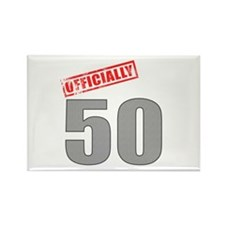 Officially 50 Rectangle Magnet (10 pack)