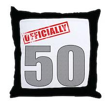 Officially 50 Throw Pillow