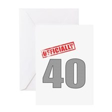 Officially 40 Greeting Card