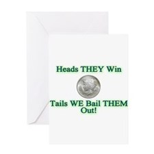 HEADS THEY WIN... Greeting Card