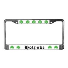 Holyoke Shamrock License Plate Frame