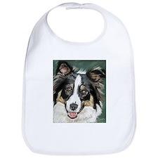 Funny Border collie puppy Bib