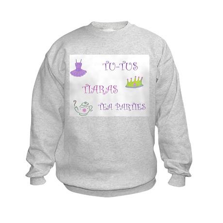 Tutus, Tiaras & Teaparties Kids Sweatshirt