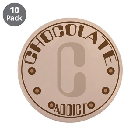 """Chocolate addict 3.5"""" Button (10 pack)"""