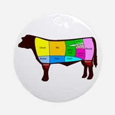 Beef Cuts Ornament (Round)