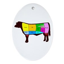 Beef Cuts Ornament (Oval)