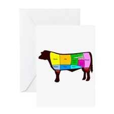 Beef Cuts Greeting Card