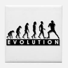 Evolution of Football Tile Coaster