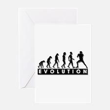 Evolution of Football Greeting Card