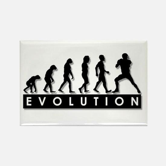 Evolution of Football Rectangle Magnet