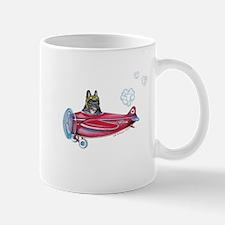 Valentine Airplane (Brindle) Mug
