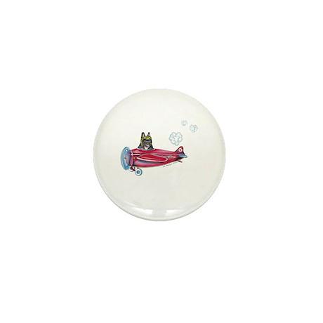 Valentine Airplane (Brindle) Mini Button