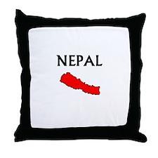 Cute Nepal Throw Pillow