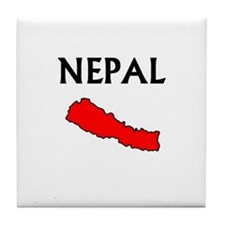 Cute Nepal Tile Coaster