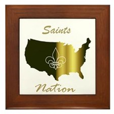 Saints Nation Framed Tile