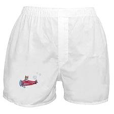 Valentine Airplane (Cream) Boxer Shorts