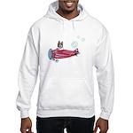 Valentine Airplane (Pied) Hooded Sweatshirt