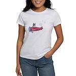 Valentine Airplane (Pied) Women's T-Shirt