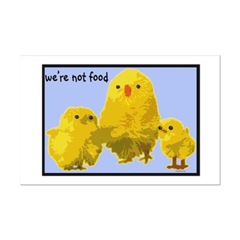 We're Not Food: Chickens Mini Poster Print