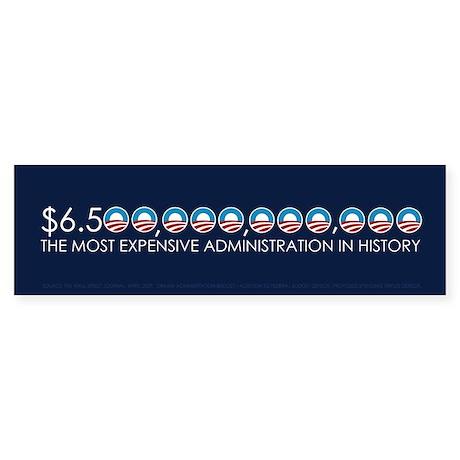 Most Expensive President Bumper Sticker