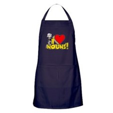 I Heart Nouns - Schoolhouse Rock! Apron (dark)