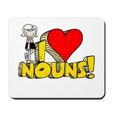 I Heart Nouns Mousepad