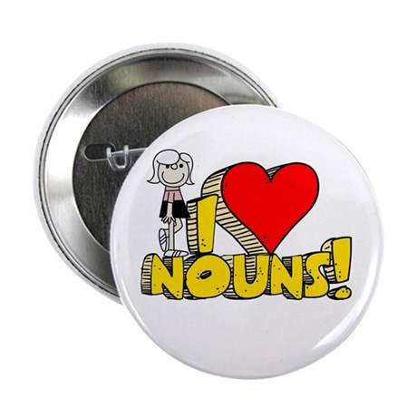 "I Heart Nouns - Schoolhouse Rock! 2.25"" Button (10"