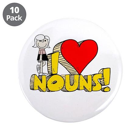 "I Heart Nouns - Schoolhouse Rock! 3.5"" Button (10"