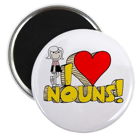 "I Heart Nouns - Schoolhouse Rock! 2.25"" Magnet (10"