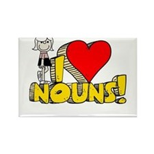 I Heart Nouns - Schoolhouse Rock! Rectangle Magnet