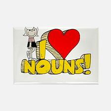I Heart Nouns - Schoolhouse Rock! Rectangle Magnet