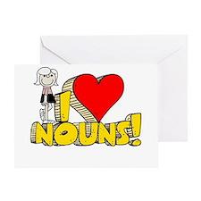 I Heart Nouns - Schoolhouse Rock! Greeting Card