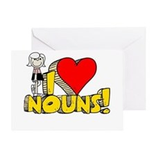 I Heart Nouns - Schoolhouse Rock! Greeting Card