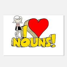 I Heart Nouns - Schoolhouse Rock! Postcards (Packa