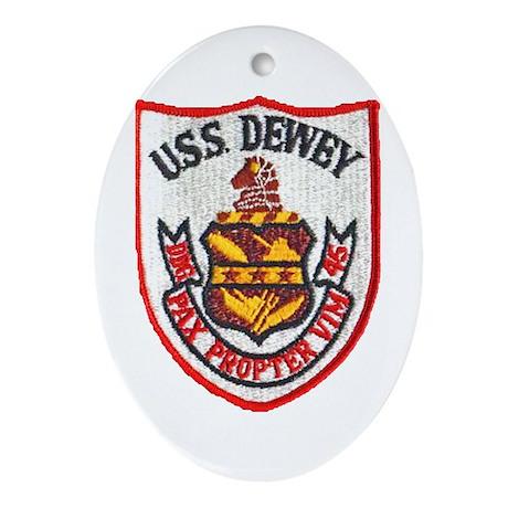 USS DEWEY Ornament (Oval)