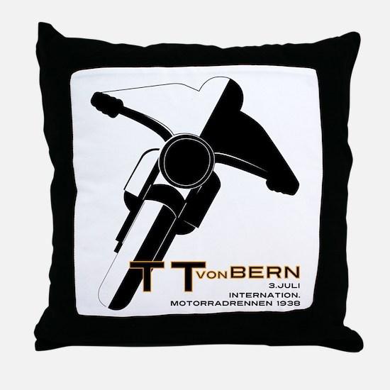 TT Von Bern Motorcycle Throw Pillow