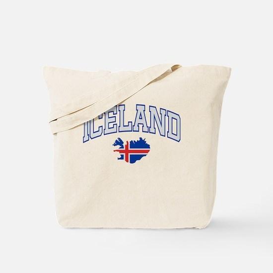 Iceland Map English Tote Bag