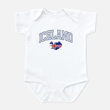 Iceland Map English Infant Bodysuit