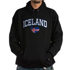 Iceland Map English Hoodie