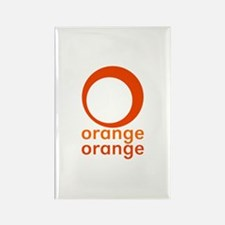 orange orange Rectangle Magnet